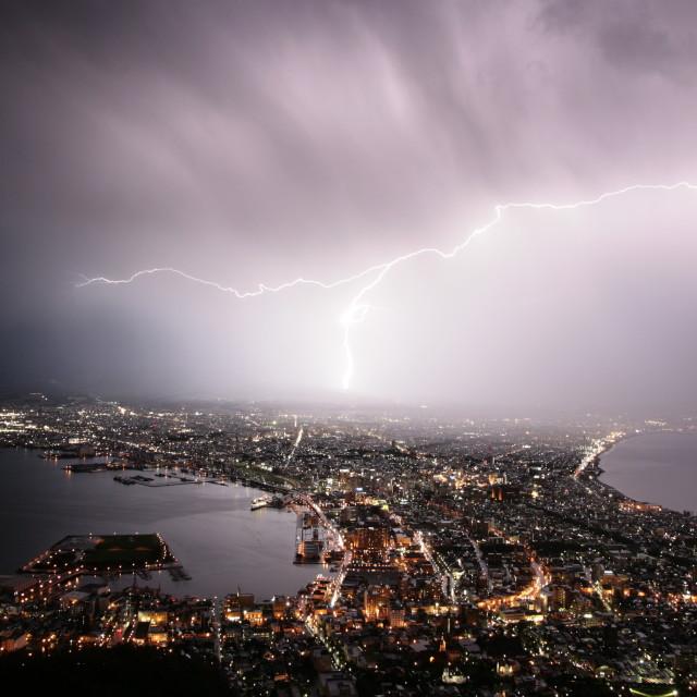 """Lightning in Japan"" stock image"