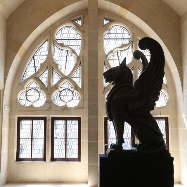 """""""Inside Château de Pierrefonds"""" stock image"""