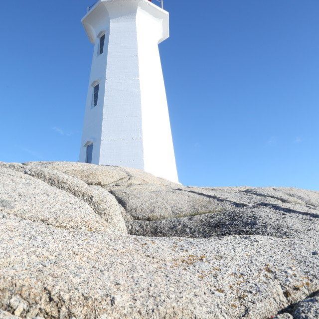 """""""Peggy's Cove Lighthouse"""" stock image"""