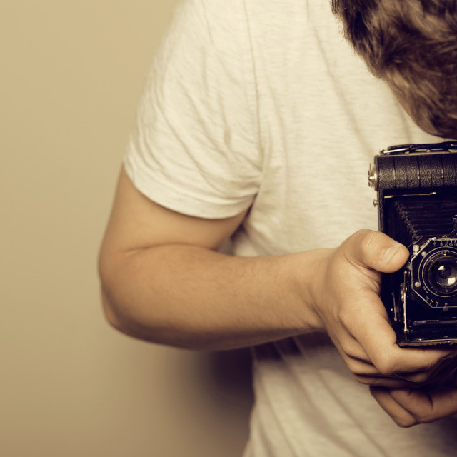 """Photographer - Retro Shooting"" stock image"