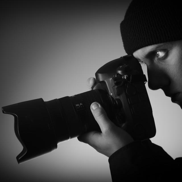 """""""Photographer-Paparazzi"""" stock image"""