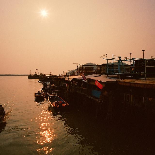 """Tai O, the Venice of Hong Kong"" stock image"