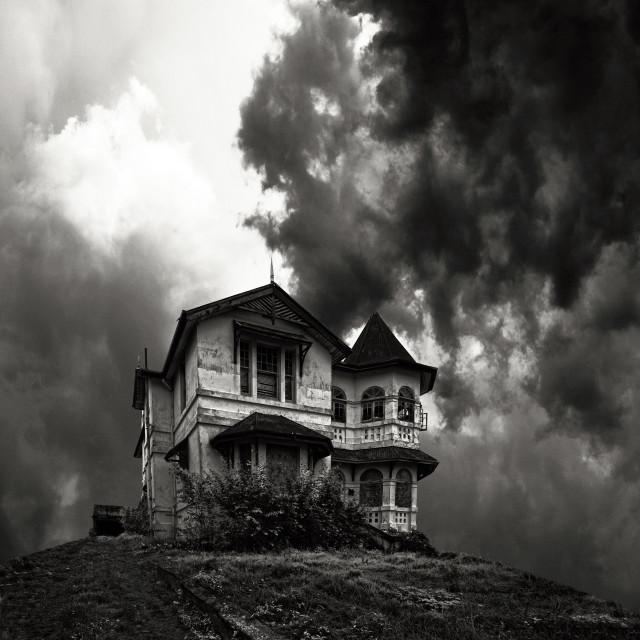 """Haunted mansion"" stock image"