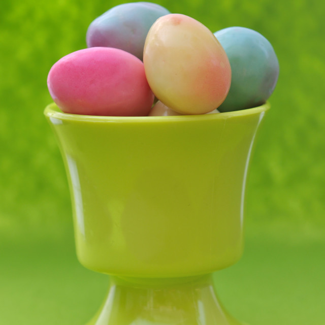 """easter eggs in eggcup"" stock image"
