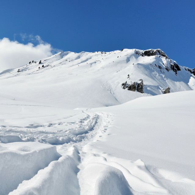 """beautiful snowy mountain"" stock image"