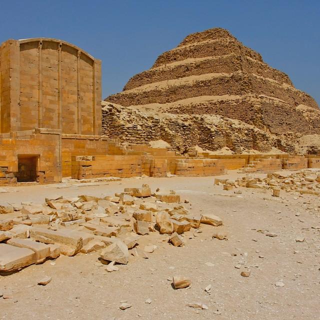 """Saqqara Complex"" stock image"