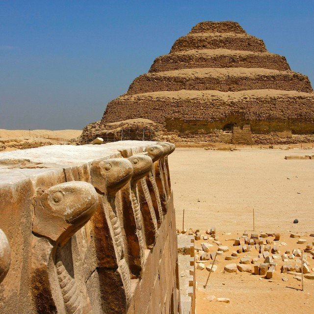 """Djoser's Step Pyramid"" stock image"
