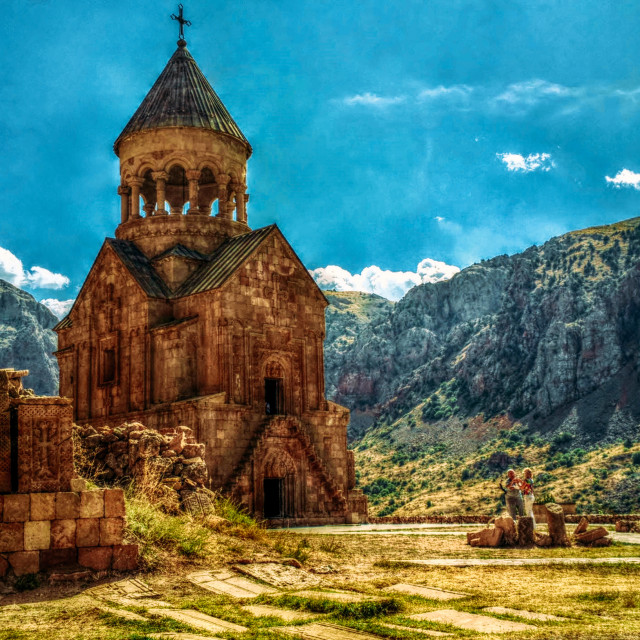 """The 13th century Armenian monastery Noravank"" stock image"