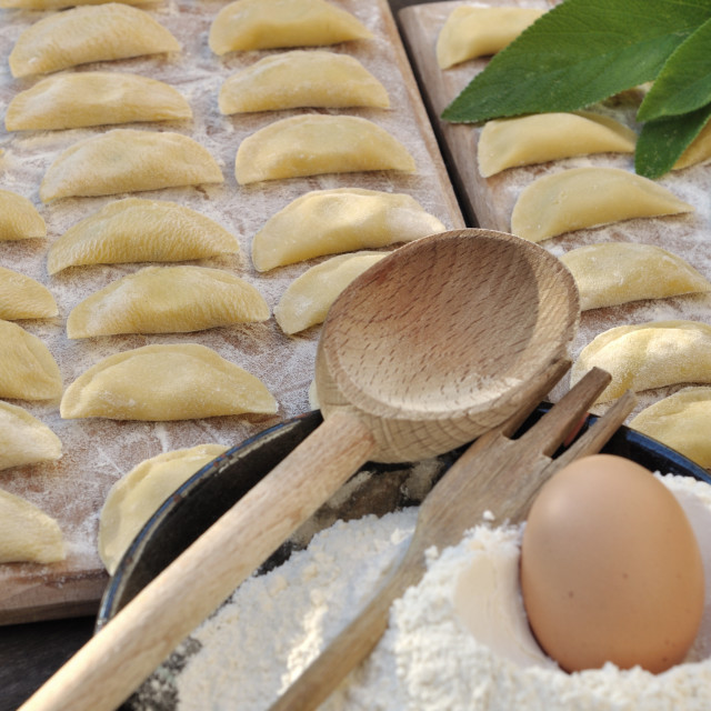 """homemade ravioli"" stock image"