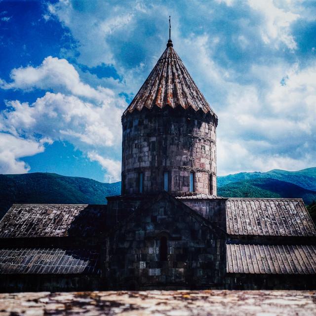 """""""In Tatev monastery"""" stock image"""