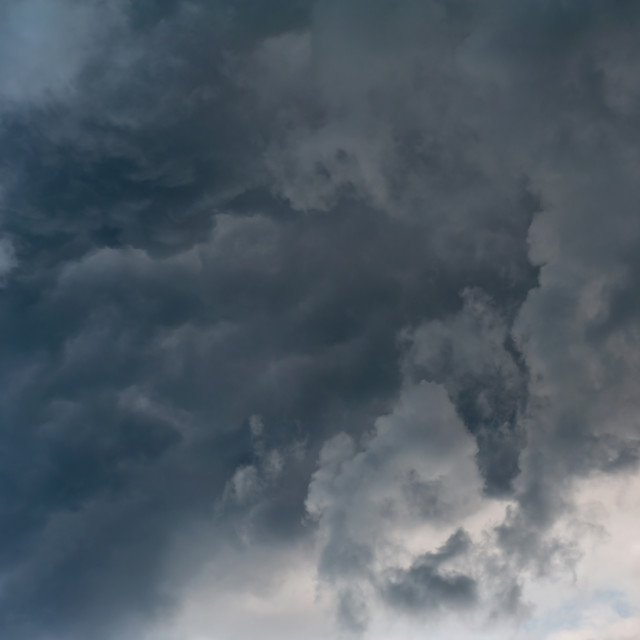 """clouds billowy sky stormy weather"" stock image"