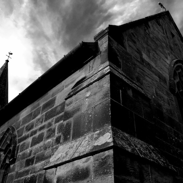 """Stone Church Mono"" stock image"