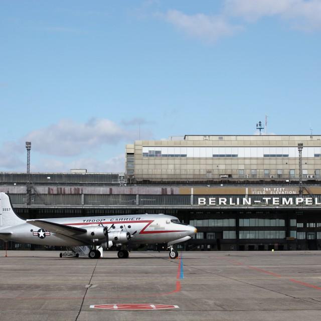"""""""Berlin Tempelhof airport"""" stock image"""