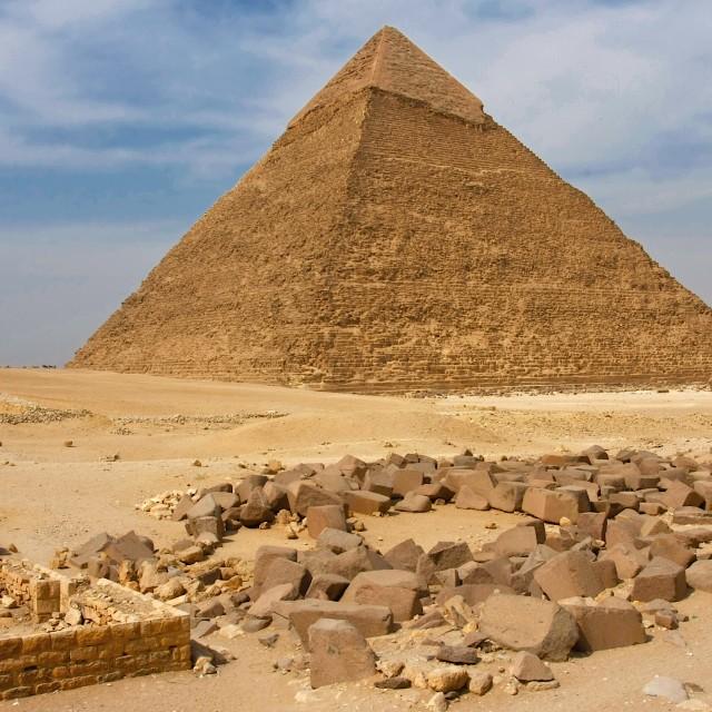 """Pyramid of Khafre"" stock image"