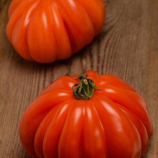 """Tomatoes - Coeur de Boeuf-Bovine heart"" stock image"