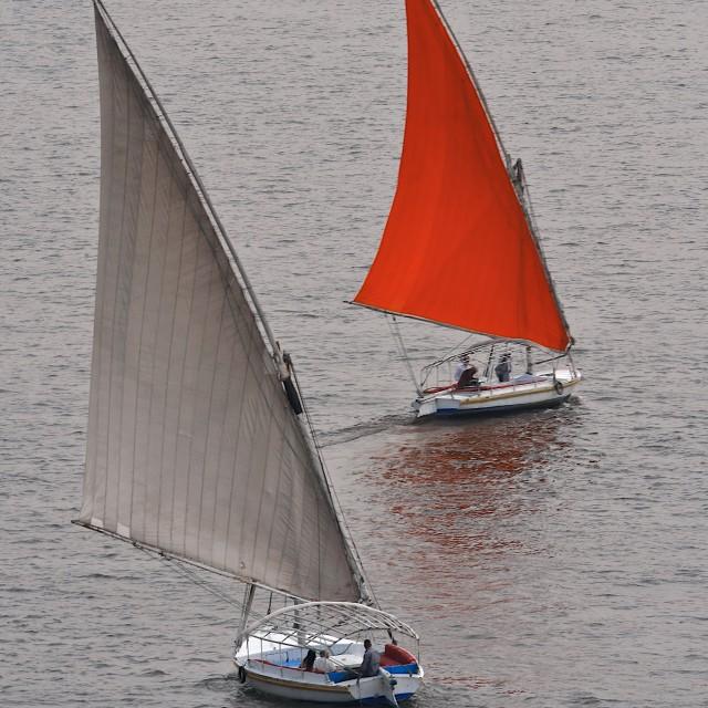 """""""Scarlet Sail"""" stock image"""