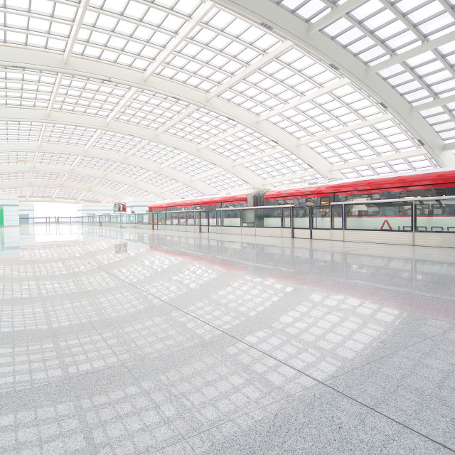 """Beijing Airport Train"" stock image"