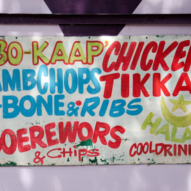 """Bo-kaap sign"" stock image"