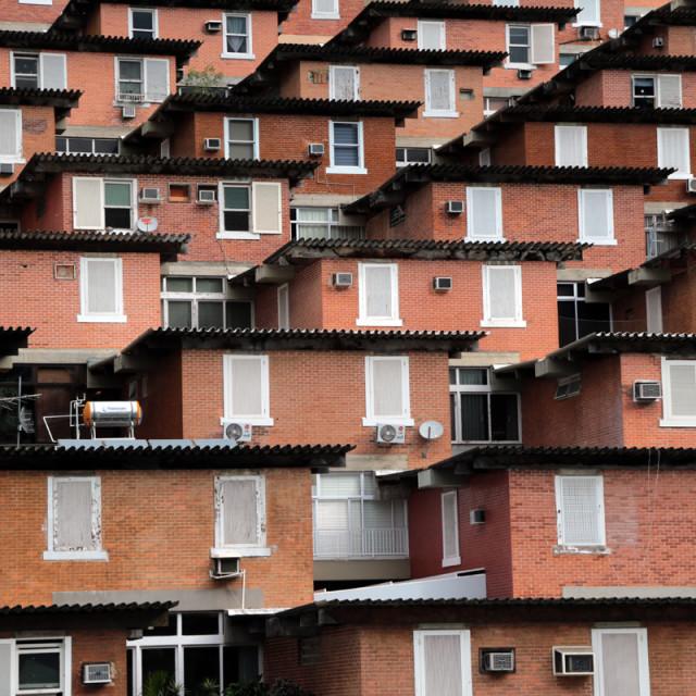 """Brick houses"" stock image"