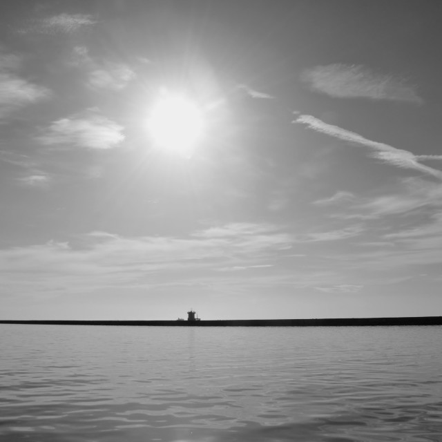 """pier wall horizon"" stock image"