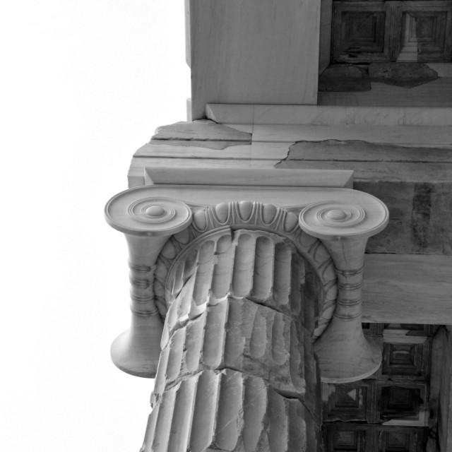 """marble ionic column"" stock image"