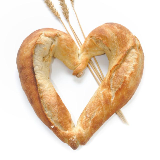 """bread shaped heart"" stock image"