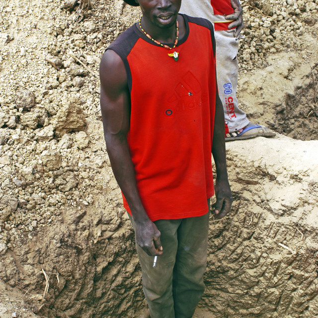 """african gold miner"" stock image"