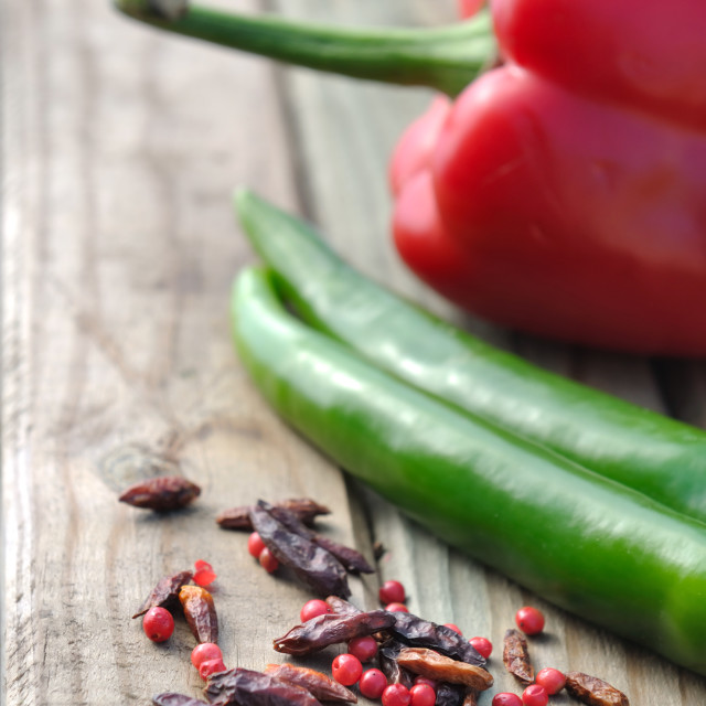 """""""Cayenne peppers"""" stock image"""
