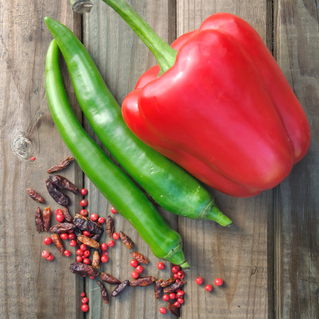 """""""chili and peppers"""" stock image"""
