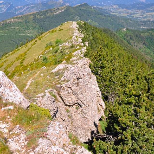 """mountain landscape in the Drôme in France"" stock image"