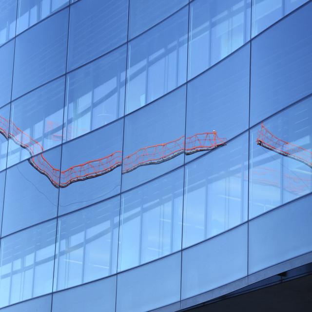 """Broken Reflection - Crane"" stock image"