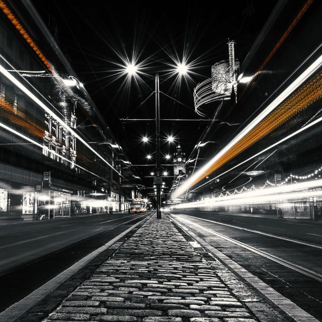 """Edinburgh Lights"" stock image"