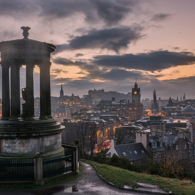 """Calton Hill Edinburgh"" stock image"