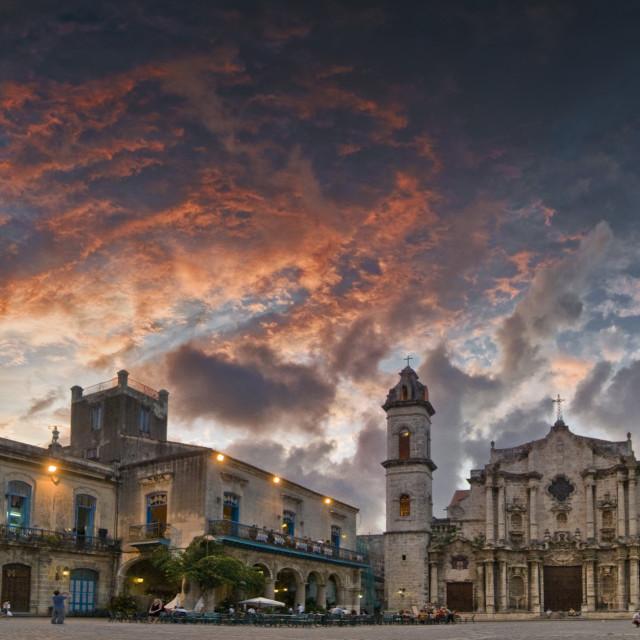 """La Habana Veja Sunset"" stock image"