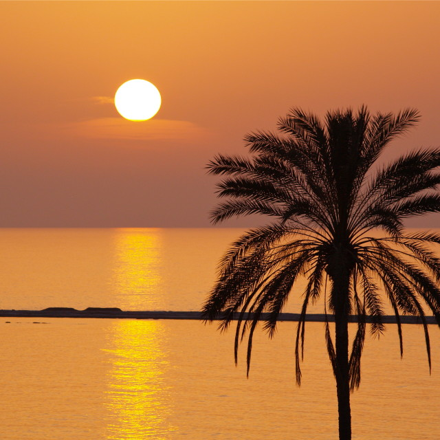 """Golden Sunset in Cyprus"" stock image"