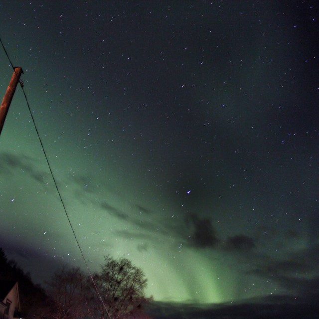 """""""Aurora borealis - Northern lights in the middle of Norway"""" stock image"""