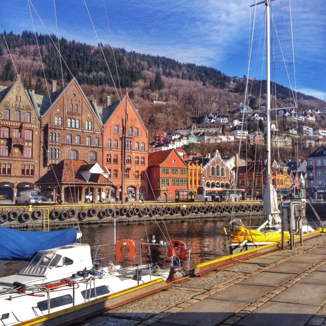 """Gorgeous Bergen, Norway"" stock image"