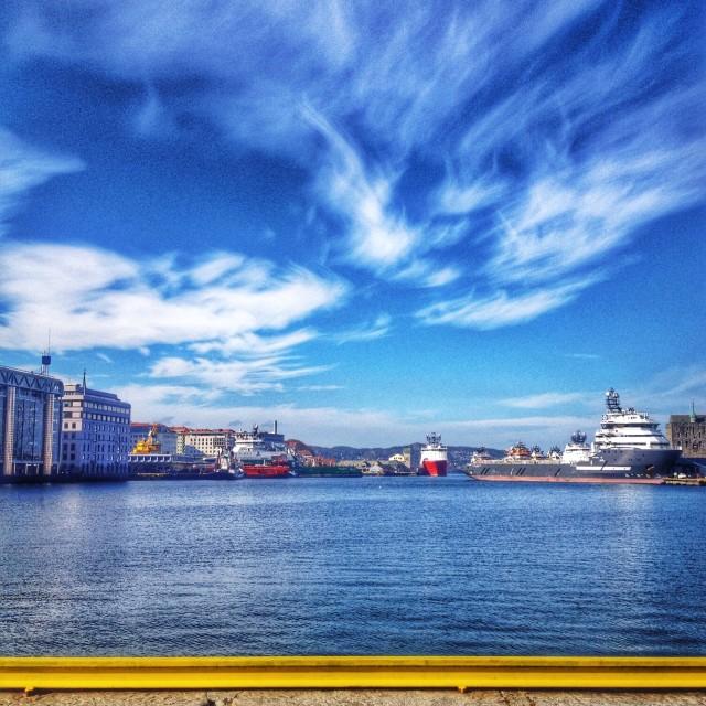 """Boat life in Bergen, Norway"" stock image"