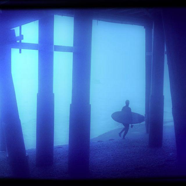 """Blue Surfer"" stock image"