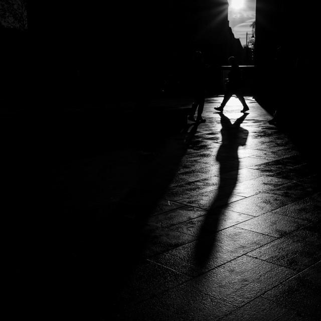 """Shadow Walk"" stock image"