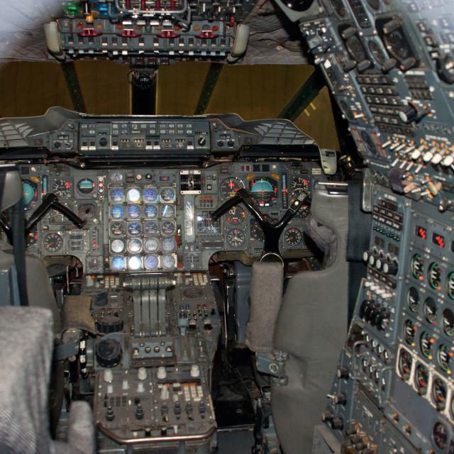 """Concorde flight deck"" stock image"