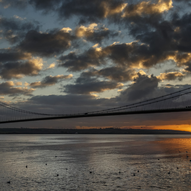 """Sunset on the Humber"" stock image"