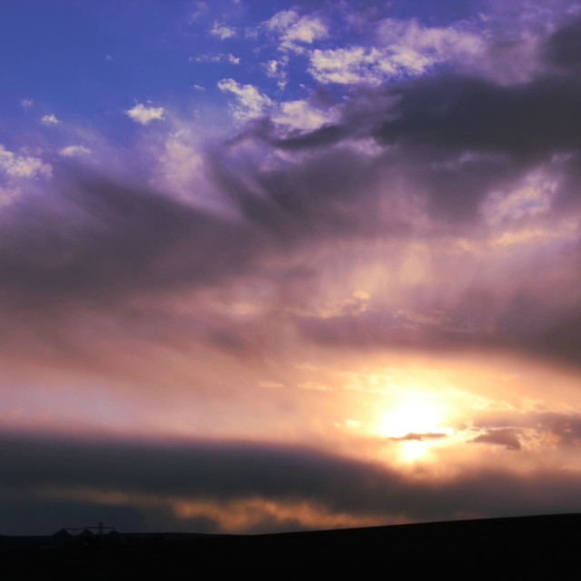 """Sunset on the Palouse"" stock image"