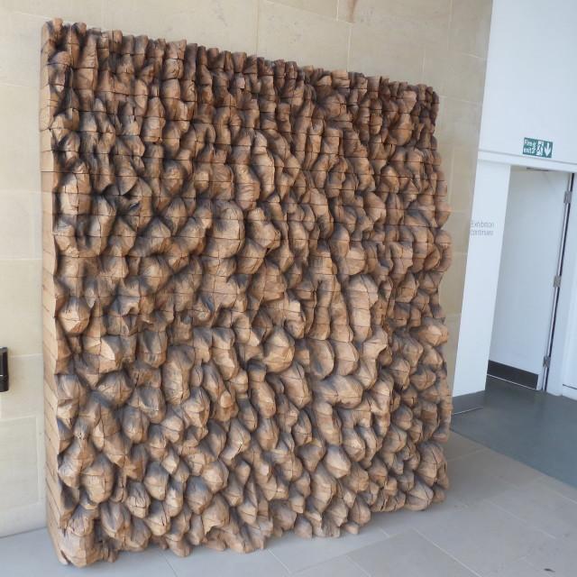 """Cedar sculptures"" stock image"