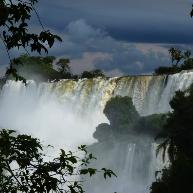 """Wall of Water, Iguazu"" stock image"