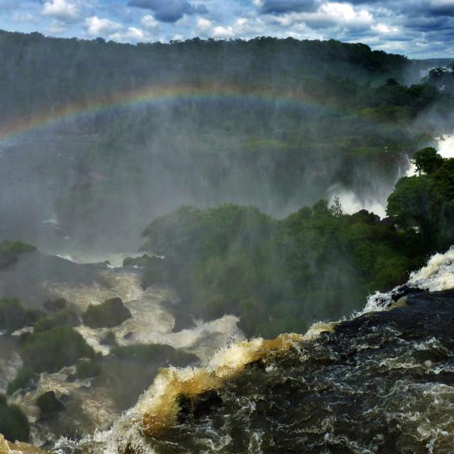 """""""Iguazu Rainbow"""" stock image"""