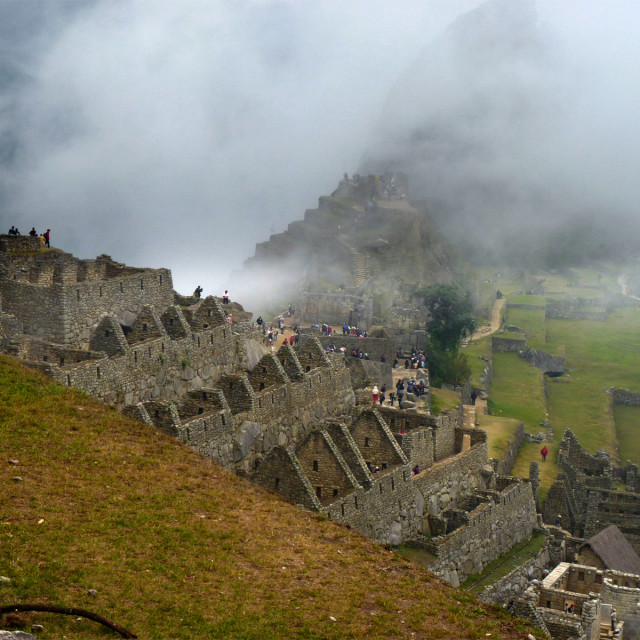 """Mist Over Machu Picchu"" stock image"
