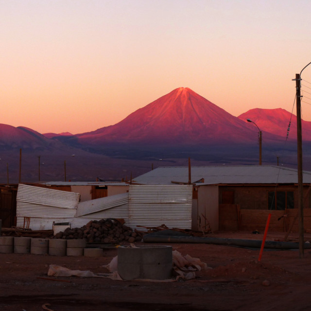 """Atacama Sunset"" stock image"