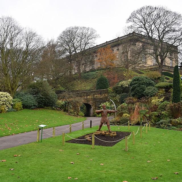 """nottingham castle grounds"" stock image"