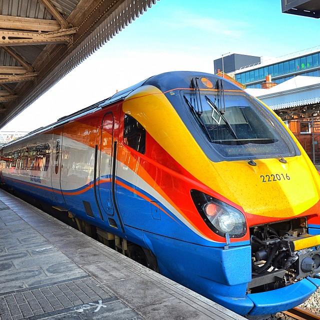"""east midlands trains nottingham train station"" stock image"